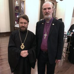 With Archbishop Hilarion Alfeyev, Metroplit of Volokolamsk and Chair of the Department of External Church Relations of the Patriarchate of Moscow