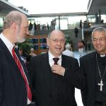 With the presiding bishop of the Protestant State Church Nikolaus Schneider and the Catholic archbishop Ludwig Schick in the German parliament
