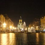 Timisoara, the central place with the Orthodox Cathedral during Christmas time
