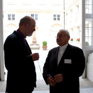 With Miloslav Kardinal Vlk, til 2010 Archbishop of Prague. He played a major role in the reconciliation between the Czech Republic and Germany