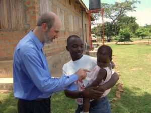 Photo: Thomas Schirrmacher, chairman of Giving Hands, at a visit to New Hope Uganda