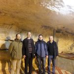 With the three deans of Martin Bucer Seminary Germany in the grotto of the Dome of the Rock, where the altar of the First and Second Jewish Temple stood – with permission of the Grand Mufti of Jerusalem (2012)