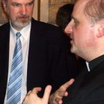 Thomas Schirrmacher in conversation with Monsignor Michael W. Banach, Permanent Vatican Representative at The Organization for Security and Co-operation (OSCE) in Europe; photo taken at an OSCE conference in Vienna in March 2009