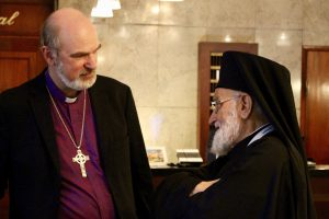 with Patriarch Gregorius Laham III from Damascus, spiritual leader of the Melkite Greek Catholic Church