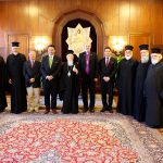 Thomas Schirrmacher and his team with Patriarch Bartholomew and the Holy Synod (five metropolitans)