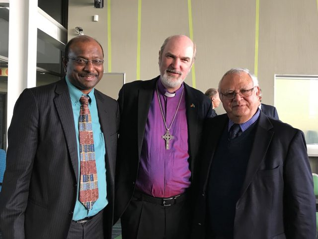 With an old friend, Prof. Jerry Pillay, also President of the Reformed Churches worldwide (left), and Prof. Andries van Garde, both University of Pretoria.