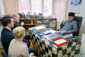 In discussion with the Imam for the UK Ataul Mujeeb Rashed