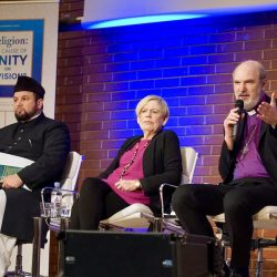 Panel discussion (from left): Rafiq Ahmed Hayat, Karen Armstrong, Thomas Schirrmacher © BQ / Warnecke