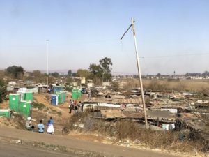 Slum today outside the former Soweto (Johannesburg)