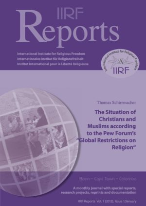 "Cover The Situation of Christians and Muslims according to the Pew Forum's ""Global Restrictions on Religion"""