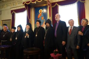 Group photo: Bishop Schirrmacher and Bishop Nedelchev of WEA (to the right) with the heads for the Turkish churches © BQ/Warnecke