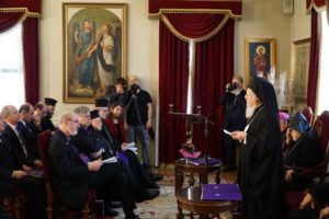 The Ecumenical Patriarch Bartholomew I during his speech © BQ/Warnecke