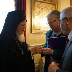 The Ecumenical Patriarchate talking to Natalie Konutgan, who translated the book, and her husband Behnan Konutgan © BQ/Warnecke