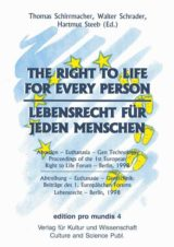 Cover Lebensrecht für jeden Menschen / The Right to Life for every Person