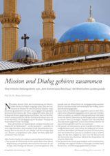 "Cover of the article ""Mission and dialogue belong together"""