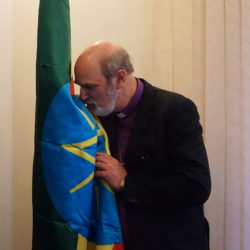 During my recent visit in Ethiopia I kissed the Ethiopian flag in the central government building.