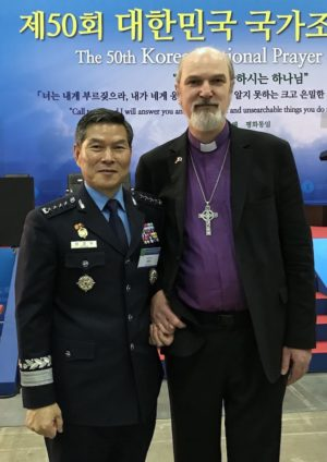 Jeong Kyeong Doo, Joint Chief of Staff of the Korean Army, and Thomas Schirrmacher © BQ/Warnecke