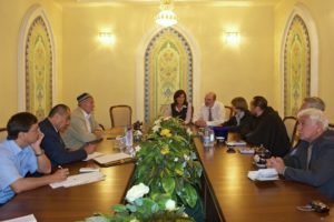 With Marat Zakhidov (far right) visiting the Minister for Religions in Usbekistan © Thomas Schirrmacher