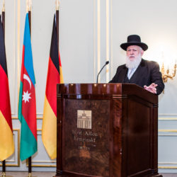 Ravvin Yitzak Ehrenberg, Rabbi from Berlin, until 2010 Chairman of the Orthodox Rabbinical Conference Germany © Embassy of Azerbaijan in Berlin