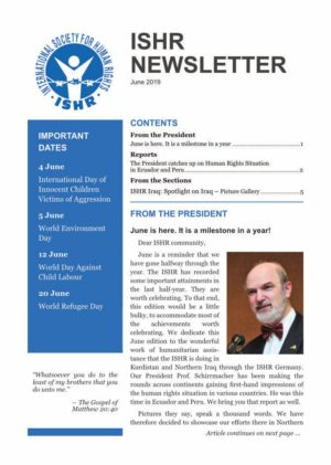 Cover ISHR Newsletter