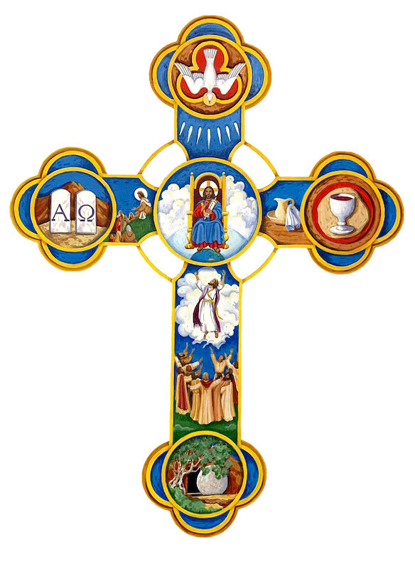 Cross of Communio Messianica by Lisa Mikler