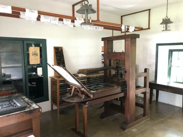 The old printing press of the mission station on Honolulu, Hawaii © BQ/Thomas Schirrmacher