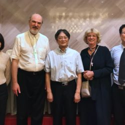The two German Consultants Thomas Schirrmacher and Prof. Dr Ulrike Link-Wieczorek (EKD) together with three professors of Nanjing Union Theological Seminary © BQ/Thomas Schirrmacher