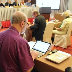 Thomas Schirrmacher during a session of the Faith and Order Commission in Nanjing © Morfi Xanthi/WCC