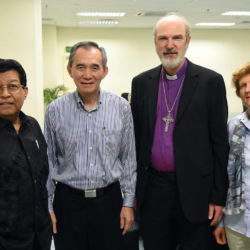 (from right to left): Dr Prince Guneratnam, Bishop Dr Daniel Ho, Thomas and Christine Schirrmacher © BQ/Thomas Schirrmacher